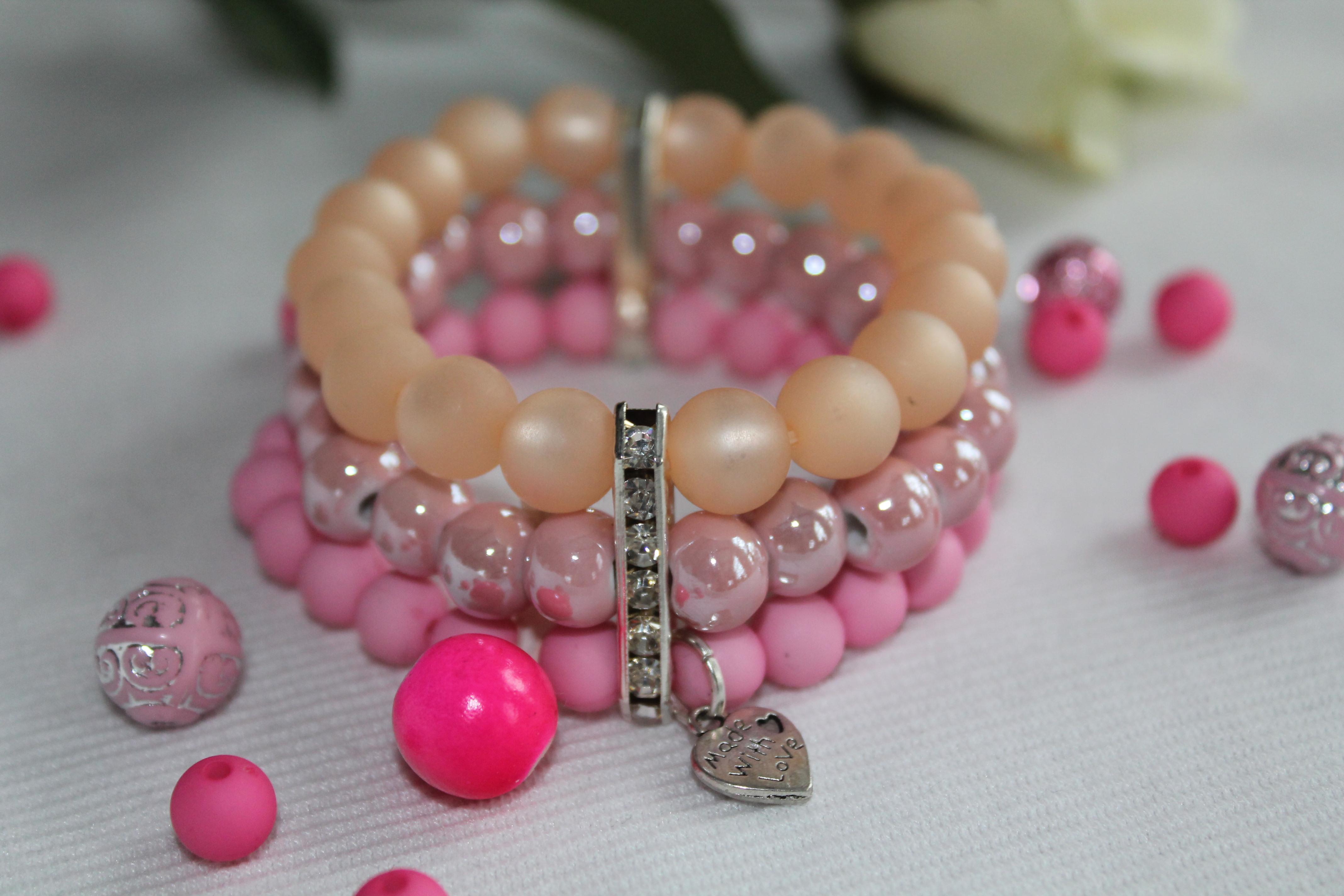 pink armband